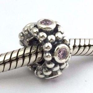 PANDORA Her Majesty Pink CZ Bead Charm